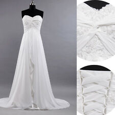 2013 Homecoming Long Beach Wedding Evening Party Dress Prom Brides Gowns Sz 2-16
