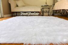 Luxury Faux Fur Shaggy Rectangle Extra Large Sheepskin Bearskin Living Room Rugs