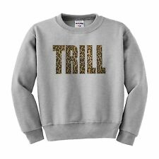 Trill Sweatshirt Dope Swag ASAP YMCMB XO Hiphop Sweater Leopard print NEW