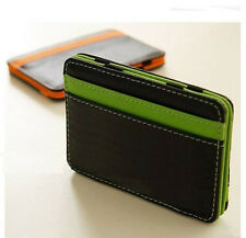 New Mens MAGIC MONEY CLIP Wallet Faux Leather ID Credit Card Slots Cash Holder