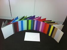 """20 5"""" x 7"""" CARD BLANKS AND ENVELOPES OVER 30 COLOURS (YOU CHOOSE COLOUR)"""