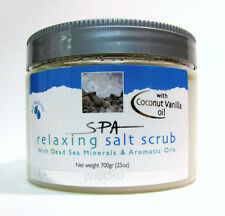 Jericho Dead Sea Relaxing Coconut Vanilla Salt Scrub 700gr 24.6oz Aromatic