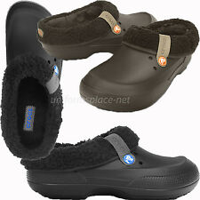 Crocs Shoes Mammoth EVO Unisex Clogs Mens Womens Faux Fur Lined Clog Black Navy