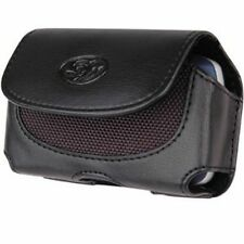 New Black Horizontal Leather Belt Clip Pouch Holster Carrying Case for Phones