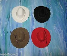 "(2) Western Mini 2"" Cowboy Hats Wedding Party Favors Craft Decor You Pick Color"