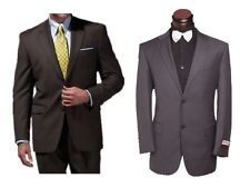 Mens Wool Classic Gray Dk Brown 2 BTN Suits Jacket W Pants Various Size