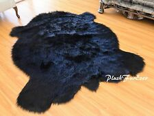 Plush Faux Fur Rug Realistic Buffalo Shape Large Living Room Rug Premium Quality
