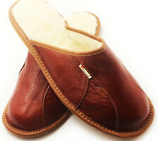 SLIPPERS Scuffs Genuine Leather Size (Men's): 7,8,8.5,9.5,10,11,12,12,5Browns