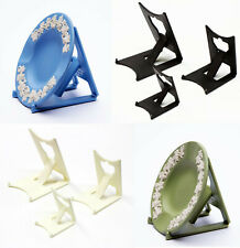 2 x Black or Ivory Clip Display Stands : Small, Medium, Large: Plate, Card, Tile