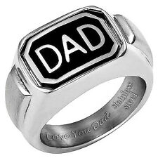 Brand New Mens DAD Ring Engraved Love You Dad On The Inside Perfect Fathers Day