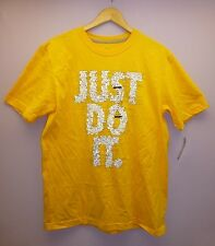Nike Just Do It Men Regular Fit Yellow T-Shirts Top Active M L XL NWT $25