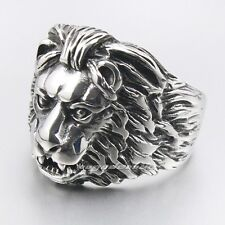 316L Stainless Steel King Of  Lion Mens Biker Ring 2G041