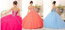 New Hot Pink Prom Pageant Ball Quinceanera Dresses Size custom