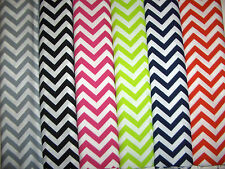 Chevrons Zig Zags 100% Cotton Quilt Fabric White and 6 Colors Available BTY