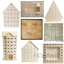Plain Wooden Advent Calendars - choice of styles ready to decorate make your own