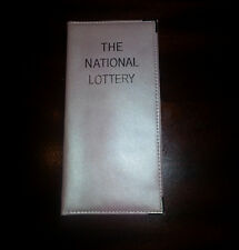 REAL LEATHER LOTTERY TICKET HOLDER AVAILABLE IN METALIC PINK OR AQUA BLUE
