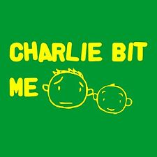T-SHIRT - CHARLIE BIT ME T-SHIRT  funny youtube nerdy geeky internet video humor