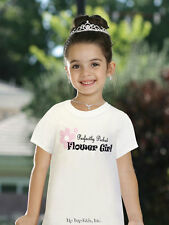 NEW Wedding Rehearsal Flowergirl White Pink Tshirt PERFECTLY PICKED FLOWERGIRL