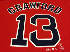 Carl Crawford Los Angeles Dodgers Boston Red Sox Jersey T Shirt NEW Majestic