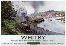 233 Vintage Railway Art Poster Whitby North Yorkshire