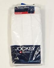 Jockey Classic White Tapered Boxer Underwear Mens 2 Pack New in Package