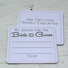 10 x Advice For The Bride & Groom Card Coasters | Alternative Wedding Guest Book