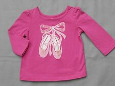 ON SALE! Pink Ballet Slippers Top Shirt The Children's Place baby girl 6 9 24 mo