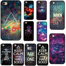 For Apple IPhone4 4S 5 Galaxy Space Universe Snap On Hard Back Skin Case Cover