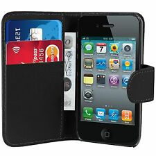PU Wallet Leather Case Cover For Iphone 4 4s 5 5s & Screen Protector & Stylus