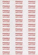 Fragile With Care Labels Stickers - Industry standard - Choose quantity FREE P&P
