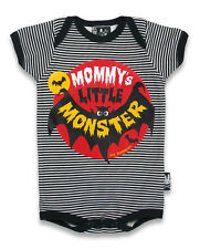 SIX BUNNIES LITTLE MONSTER BAT BABY GROW VEST ONE PIECE ROMPER GOTH PUNK BIKER
