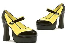 """5"""" Heel Black and Yellow Bumble Bee Mary Jane Shoes - On Sale"""