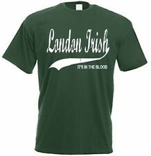 London Irish It's in the Blood Retro Style England Ireland Rugby Jersey T Shirt