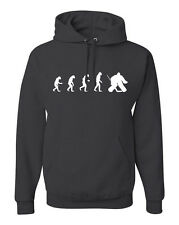 Evolution of Man Hockey Goalie Hoodie Sweatshirt Goal Puck Free Sticker FREE S&H