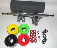 "Griptape 10"" Trucks ALUMINUM  & 70x51mm SOFT Wheels Drop Through longboard Skate"