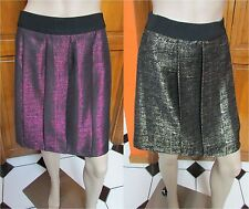 Lord & Taylor Metallic Pink or Gold and Black Knee-Length Skirts NWT Various Sz