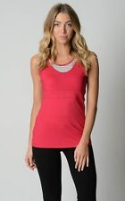 Ladies Active Sports Walk Gym Singlet with Crop Top sizes 10 12 Colour Pink