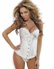 Hot Lady SEXY SLIMMING Gothic Corset Busiter Boned Lace Up Pure Corset G-string