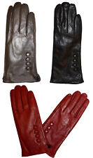 New Woman's Leather Dress Gloves Winter Gloves Soft Lined Leather Gloves bnwt