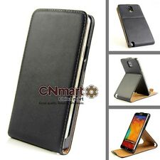 Hot Genuine Leather Flip Stand Cover Case For Samsung Galaxy Note 3 N9000 BA2505