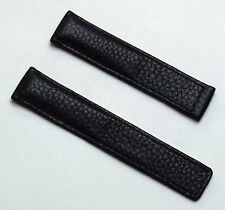Black Buffalo Grain 19/18 mm Leather Watch Strap to fit TAG Heuer Carrera