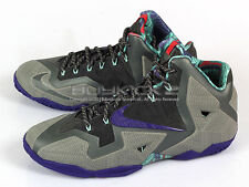 Nike LeBron XI 11 Terracotta Warrior LBJ Mine Grey/Electric Purple 626374-005