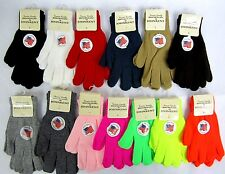 13 COLOR  MAGIC STRETCH UNISEX KNIT GLOVE  WINTER WARM  ONE SIZE
