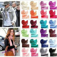 Hot Sale Unisex Pashmina Cashmere Silk Solid Wrap Long Range Scarf 30 Colors
