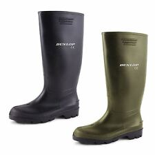 New Mens Ladies Dunlop Wellies Snow Rain Waterproof Wellington Black Boots 3-12