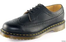 Mens Dr Martens Saxon 3989 5 Eye Lace Up Brogue Shoe Black Greasy R11845001
