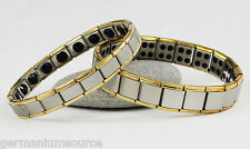 Germanium Bracelet Power Energy 80 20 Stones Health Balance Ion Magnetic 2 Tone