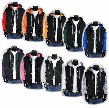Mens New Varsity Letterman Hoodie Baseball Jacket XS,S,M,L,XL Quality Korea