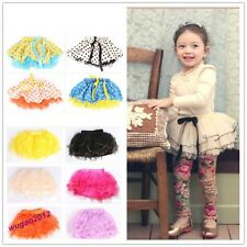 Hot Sale Various Color 4 Layers Baby Girl Skirt Dance Party Tutu Dress 3-12 Year