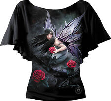 Spiral Direct ROSE FAIRY Anne Stokes Boat Neck Goth Mythical Fantasy T-Shirt Top